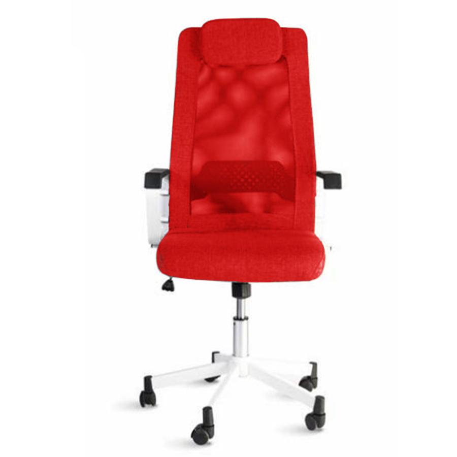 Fauteuil pour bureau rouge ergonomique et confortable idéal dans un bureau d'entreprise et collectivité