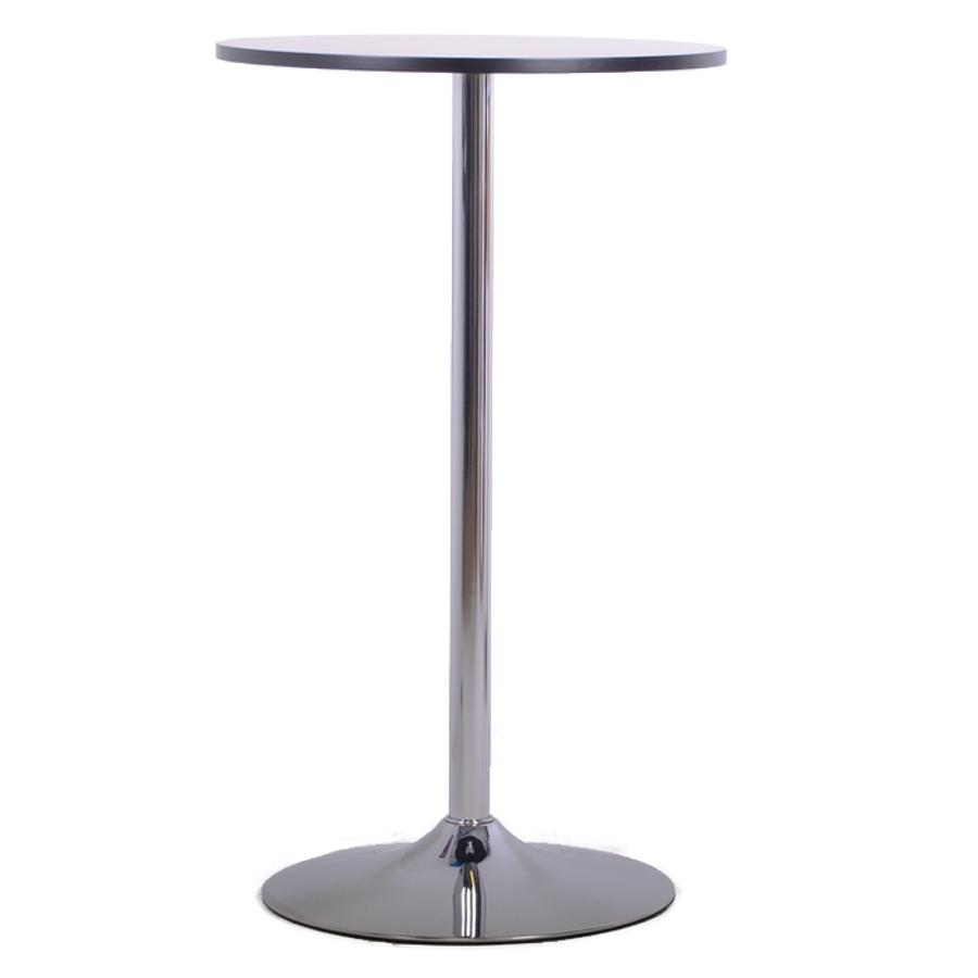 Table haute noire idéale pour des réunions du quotidien avec le manager et ses collaborateurs / salariés