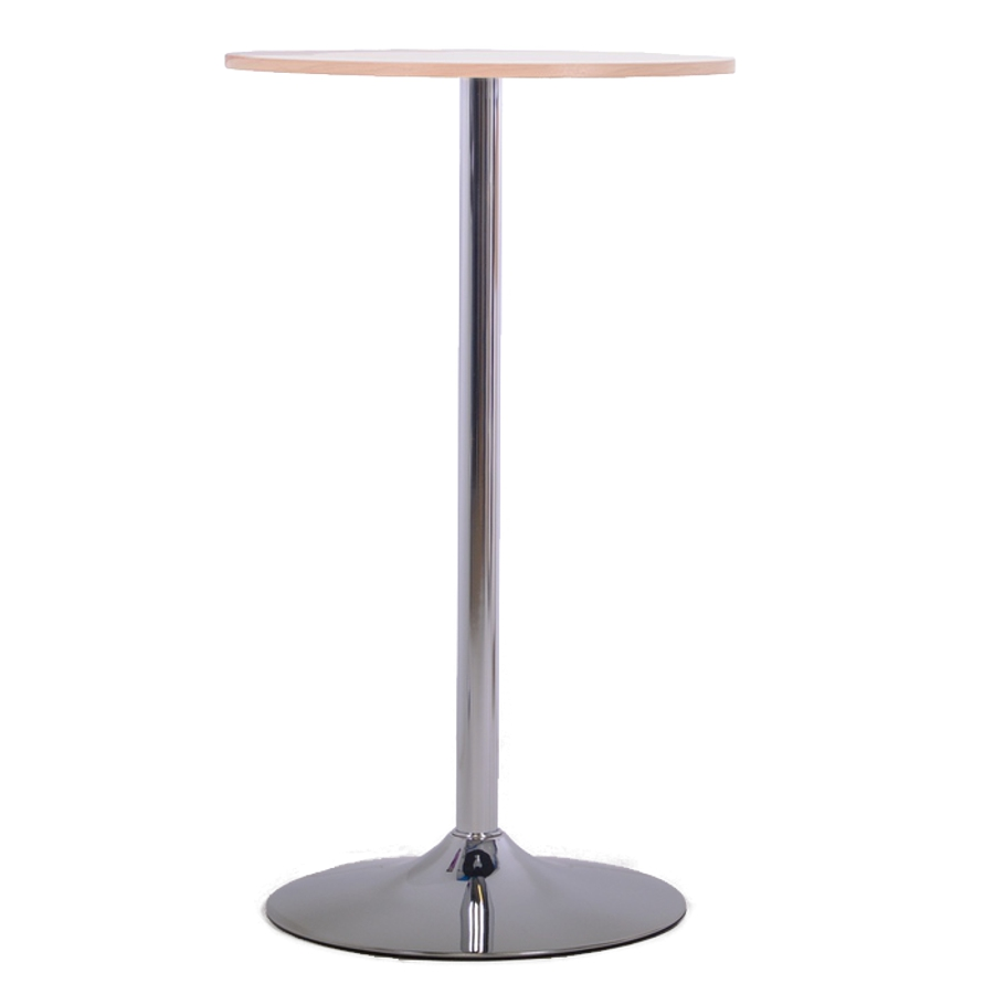 Table haute chêne 60 cm qui s'intègre dans une salle de pause ou cuisine d'entreprise / mairie et chr