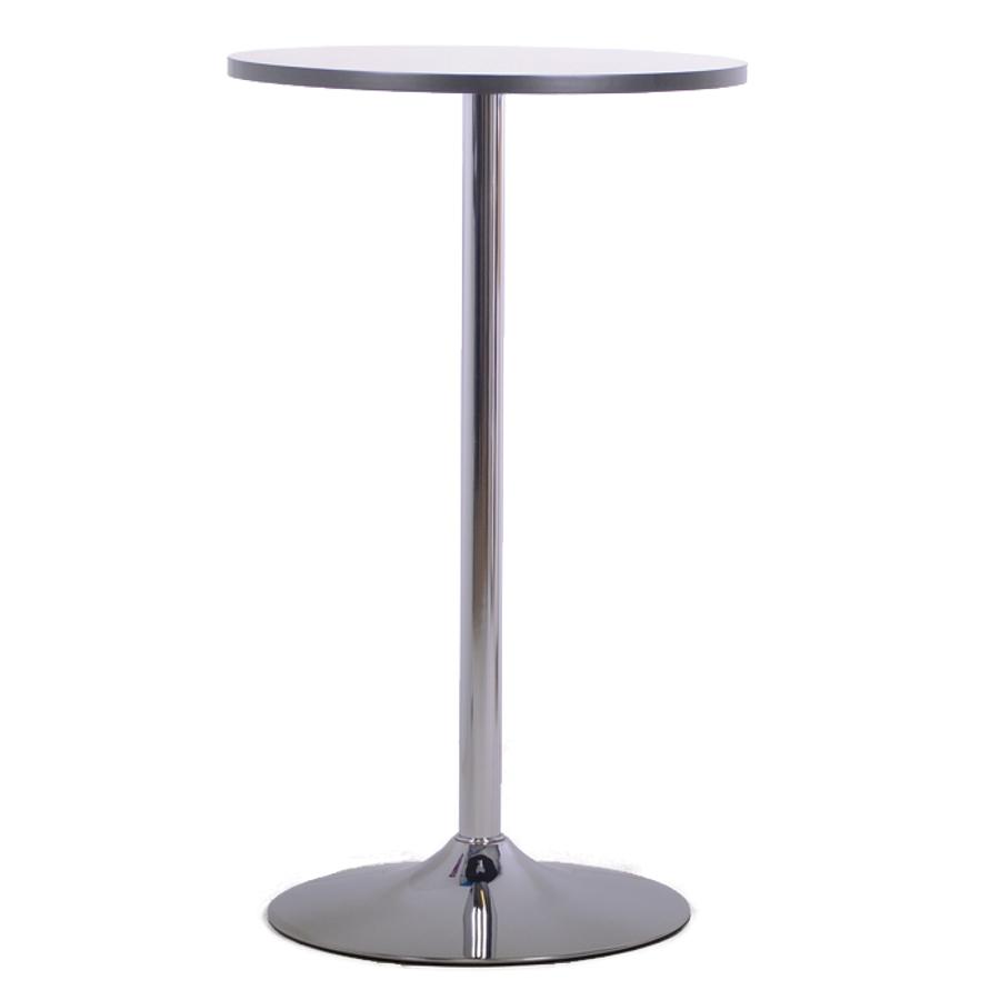 Table haute graphite avec un plateau diamètre 60 cm idéale en salle de pause et salle de réunion en entreprise et collectivité / association