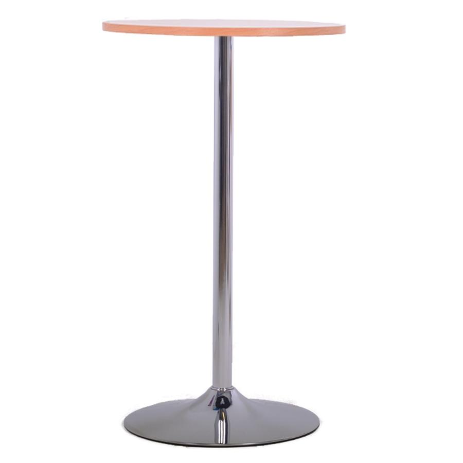 Table haute hêtre en bois doté d'un plateau 60 cm convenant parfaitement pour une salle de pause et coin cuisine / espace d'accueil