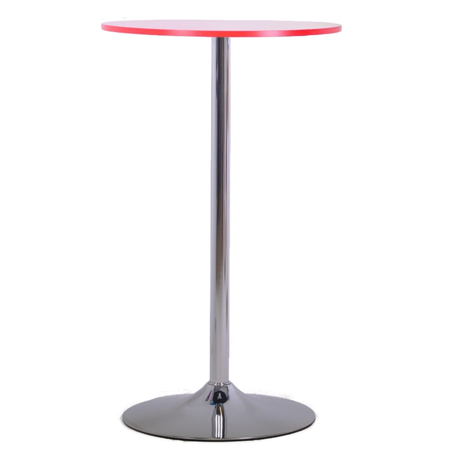 Table haute rouge 60 cm de plateau pour poser une machine à café ou des documents