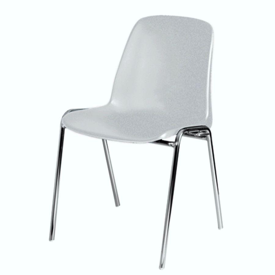 Chaise empilable et accrochable blanc pour visiteurs de bureau et audience dans une conférence