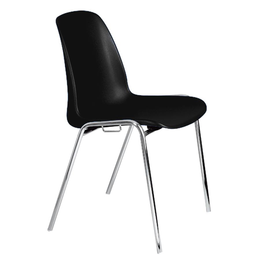 Chaise empilable et accrochable noir pour visiteurs de bureau et audience dans une conférence