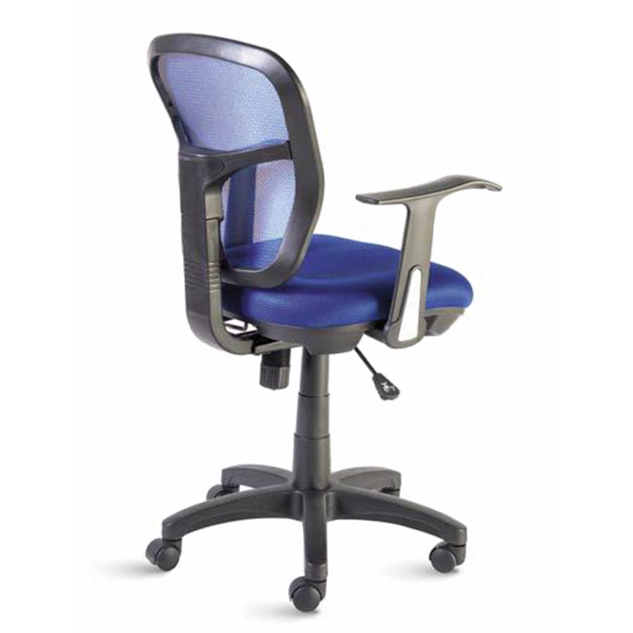 Chaise de bureau ergonomique bleu doté de roulettes convenant à la fois aux entreprises et collectivités et aux associations et écoles