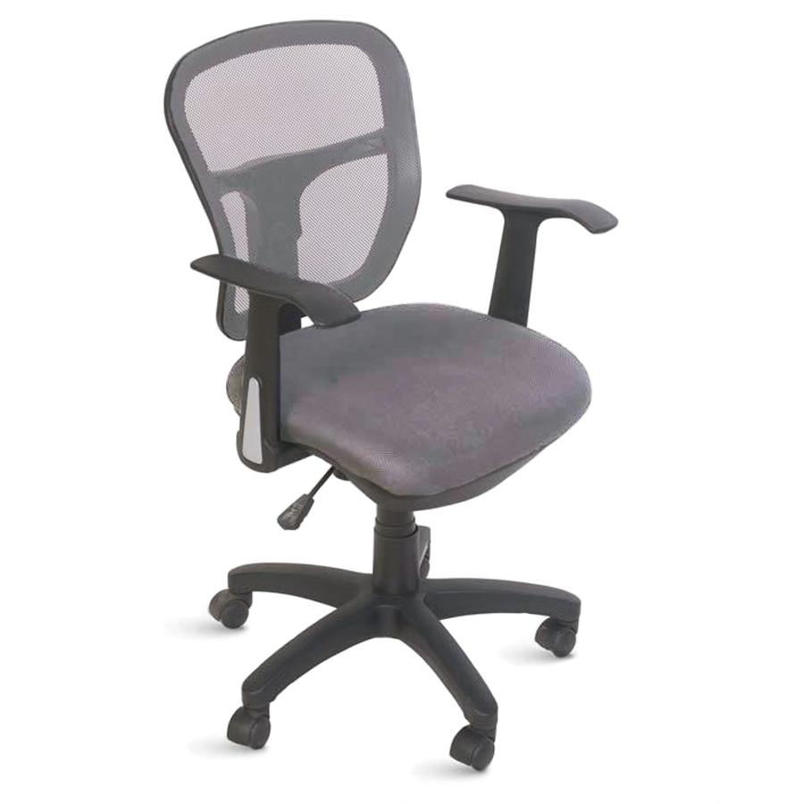 Chaise de bureau ergonomique gris doté de roulettes convenant à la fois aux entreprises et collectivités et aux associations et écoles