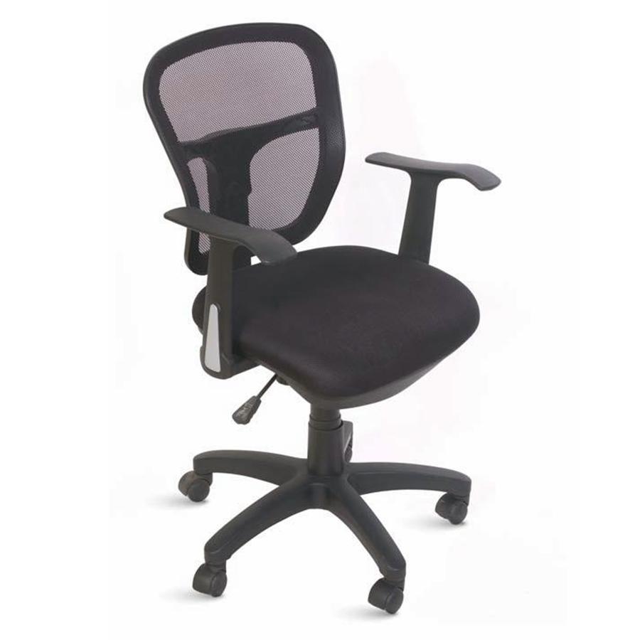 Chaise de bureau ergonomique noir doté de roulettes convenant à la fois aux entreprises et collectivités et aux associations et écoles
