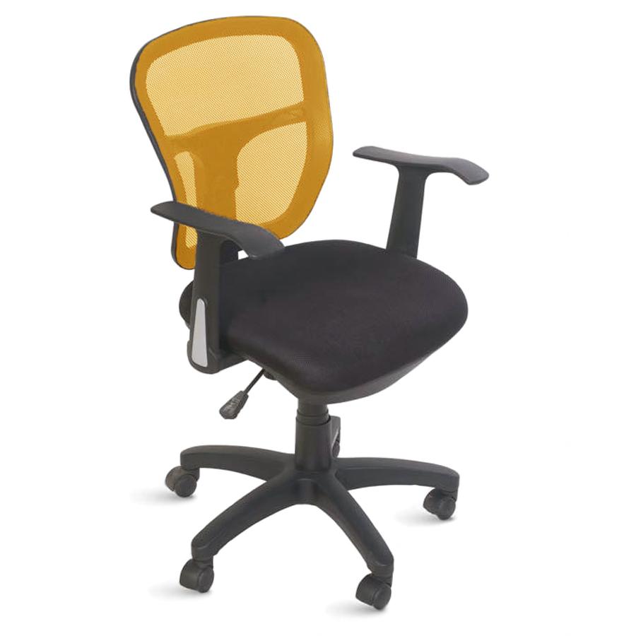 Chaise de bureau ergonomique orange doté de roulettes convenant à la fois aux entreprises et collectivités et aux associations et écoles