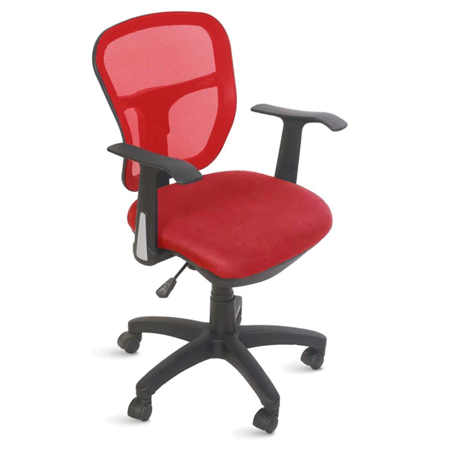 Chaise de bureau ergonomique rouge doté de roulettes convenant à la fois aux entreprises et collectivités et aux associations et écoles