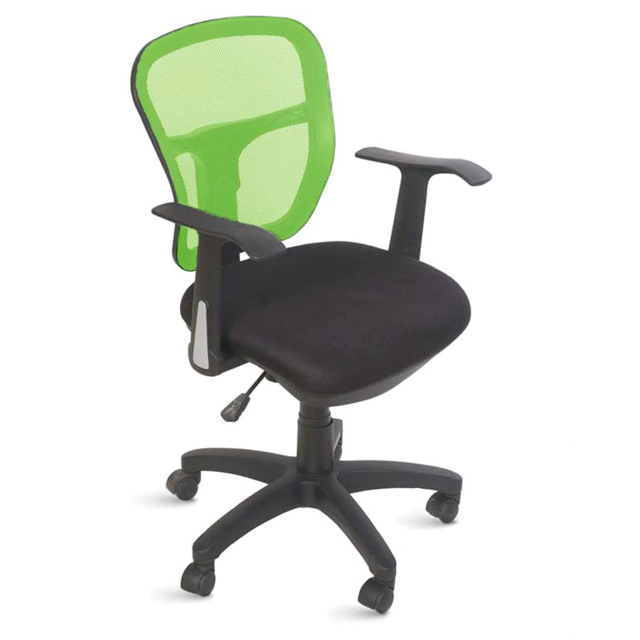 Chaise de bureau ergonomique vert doté de roulettes convenant à la fois aux entreprises et collectivités et aux associations et écoles