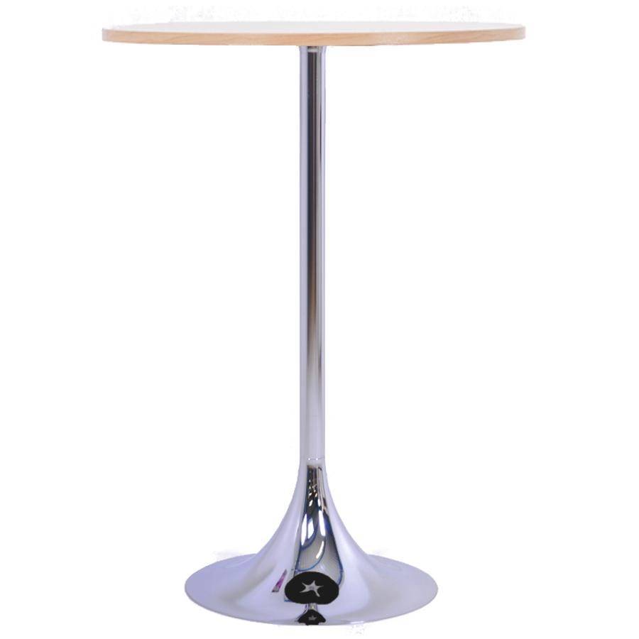 Mange debout chêne avec un plateau en bois de diamètre 80 cm qui est un élément idéal pour de courtes réunions en entreprise ou salon / exposition