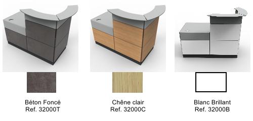 borne accueil pour entreprise au design et chic coloris du bois au choix. Black Bedroom Furniture Sets. Home Design Ideas