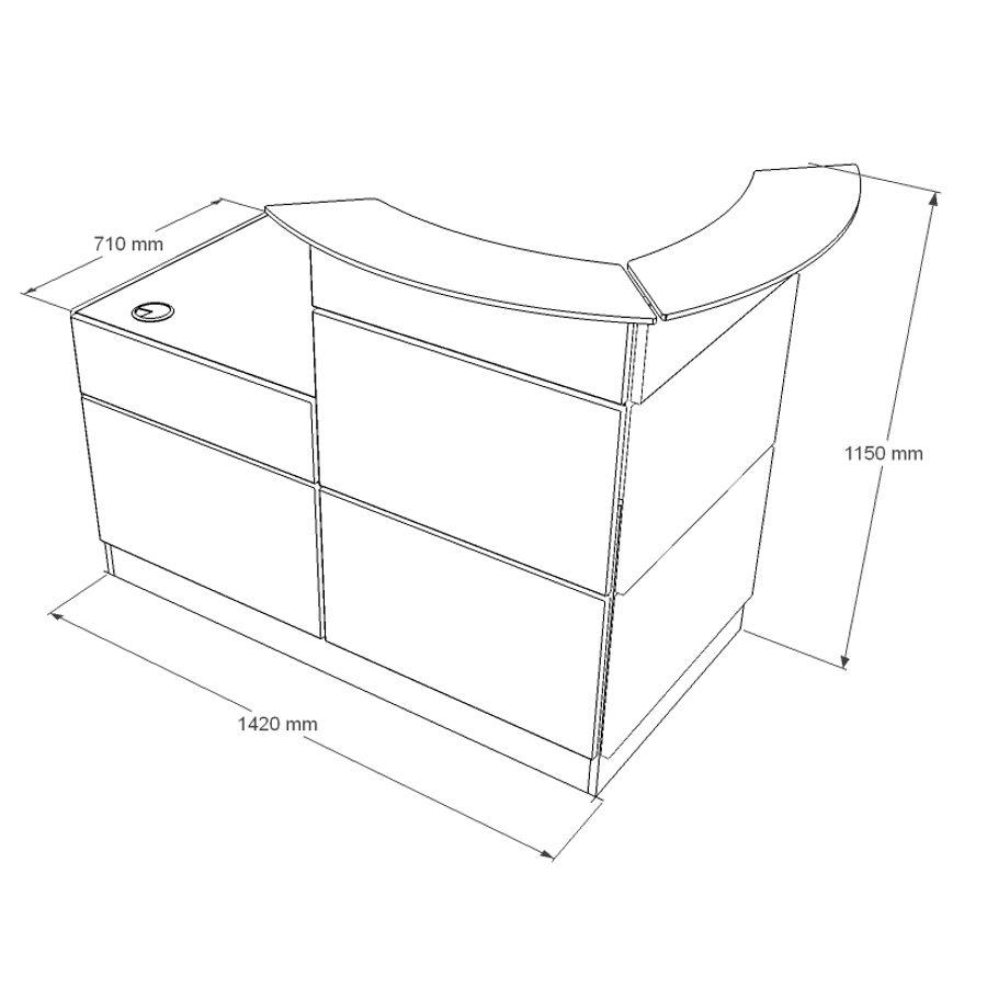 Borne d'accueil comptoir entreprise mobilier design chic