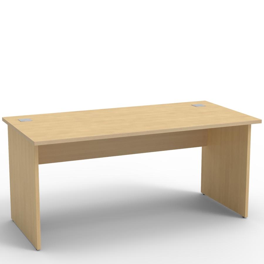 Bureau en bois chêne 160 cm avec la possibilité d'ajouter un caisson de bureau pour rangement en bois