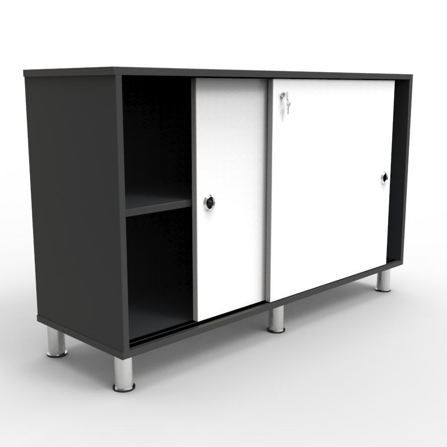Meuble de rangement design blanc de bureau, armoire archive pour l'accueil