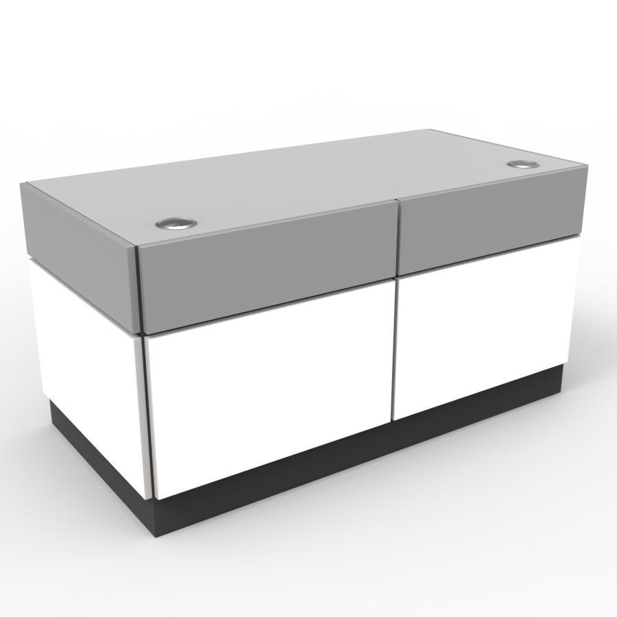 Bureau entreprise design blanc pour bureau et zone accueil d'entreprise, chr, hotel, restaurant, collectivité, pme
