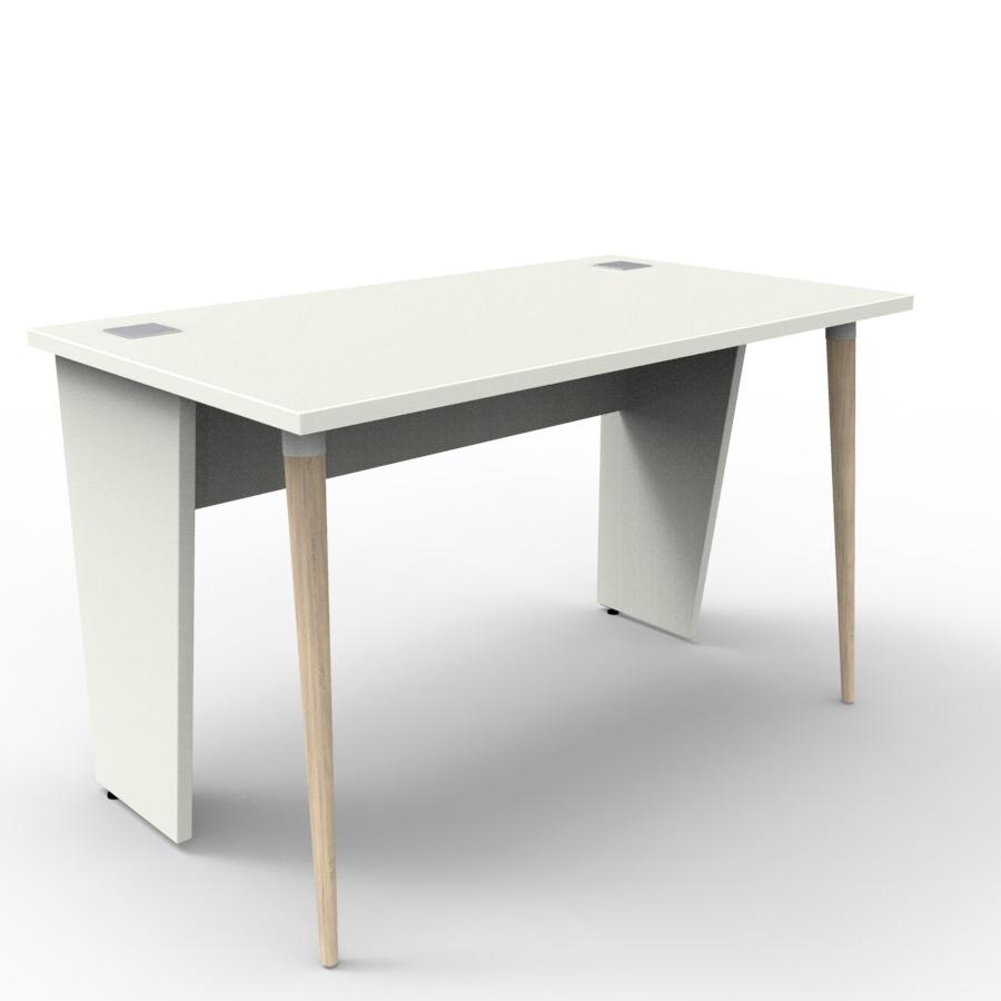 Bureau compact 120 cm blanc est fabriqué en France et décliné en plusieurs coloris pour entreprise et collectivité / chr