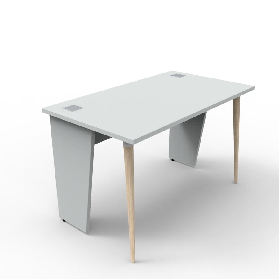 Bureau compact 120 cm gris est fabriqué en France et décliné en plusieurs coloris pour entreprise et collectivité / chr