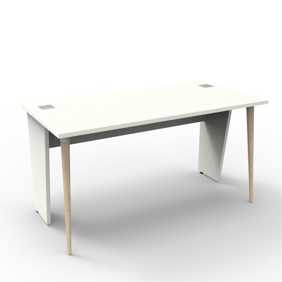 Bureau compact design 140 cm blanc décliné en plusieurs coloris et fabriqué en France de qualité professionnelle