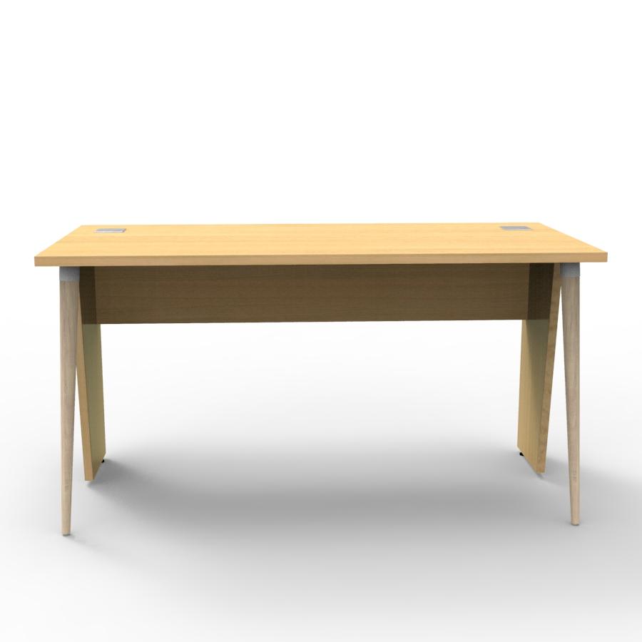 Bureau compact design 140 cm chêne clair décliné en plusieurs coloris et fabriqué en France de qualité professionnelle