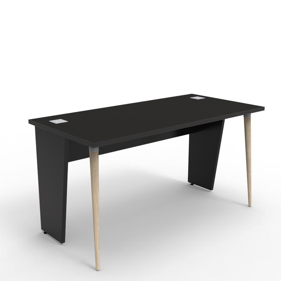 Bureau compact design 140 cm noir décliné en plusieurs coloris et fabriqué en France de qualité professionnelle