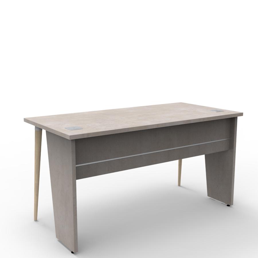Bureau compact design 140 cm béton clair décliné en plusieurs coloris et fabriqué en France de qualité professionnelle
