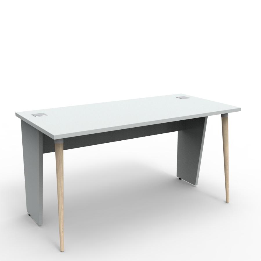 Bureau compact design 140 cm gris décliné en plusieurs coloris et fabriqué en France de qualité professionnelle