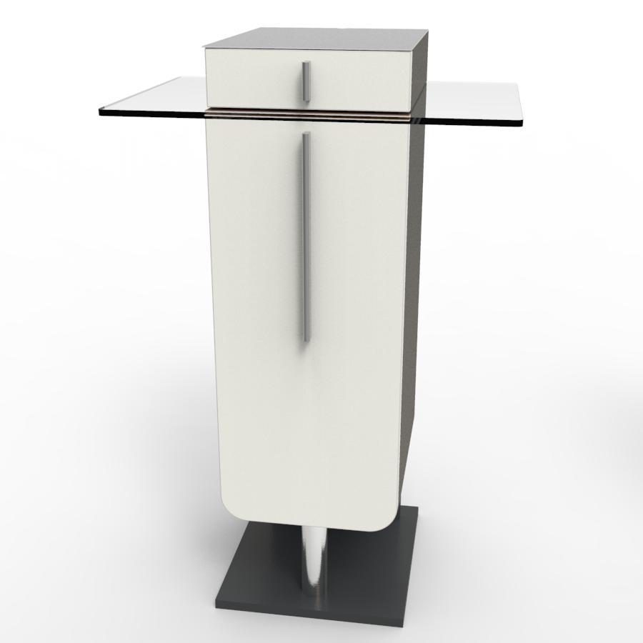 Meuble machine à café pour CHR blanc pour salles de pause et bureaux dans des collectivités et hotels / restaurants