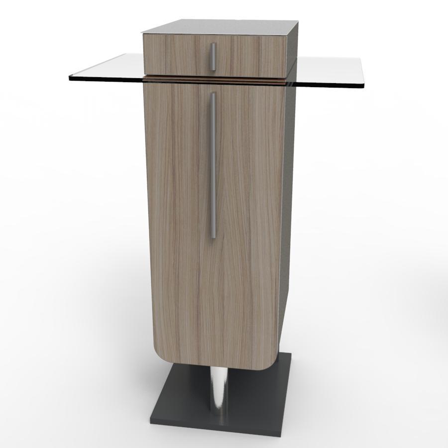 Meuble machine à café pour CHR driftwood pour salles de pause et bureaux dans des collectivités et hotels / restaurants