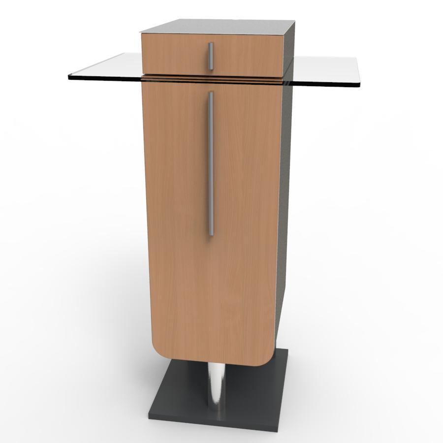 Meuble machine à café pour CHR hêtre pour hotel et resto d'entreprise ayant un espace d'accueil ou une salle de pause