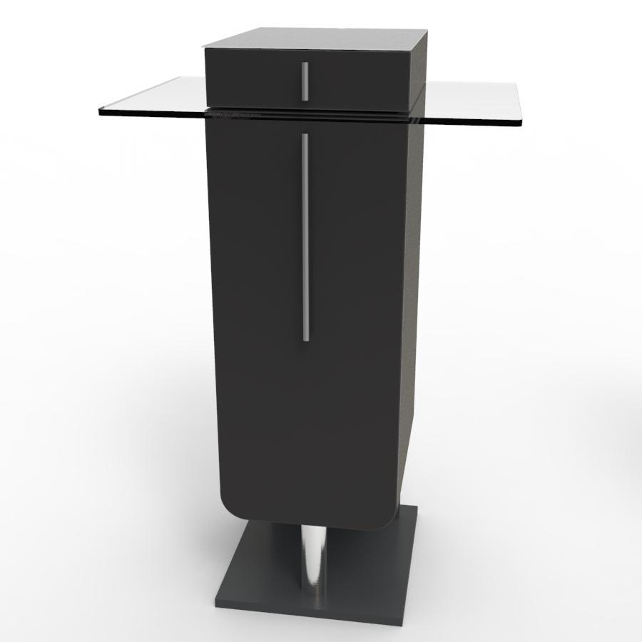 Meuble machine à café pour CHR noir pour collectivité et hotel / resto souhaitant poser une machine à café ou une bouilloire