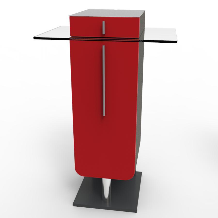 Meuble machine à café pour CHR rouge idéal pour cafétéria et bar / collectivité souhaitant faire l'achat d'un meuble pour machine à café de qualité fabriqué en France