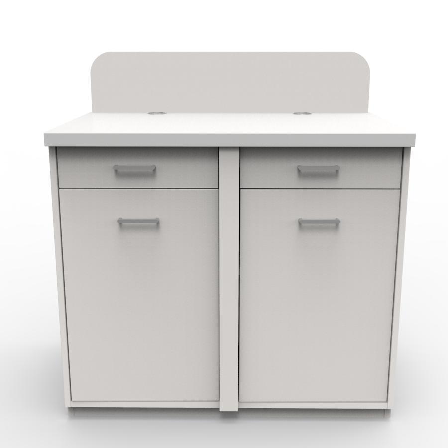 Meuble pour machine à café professionnelle blanc idéal pour de grandes machines à café et cafetière d'entreprise