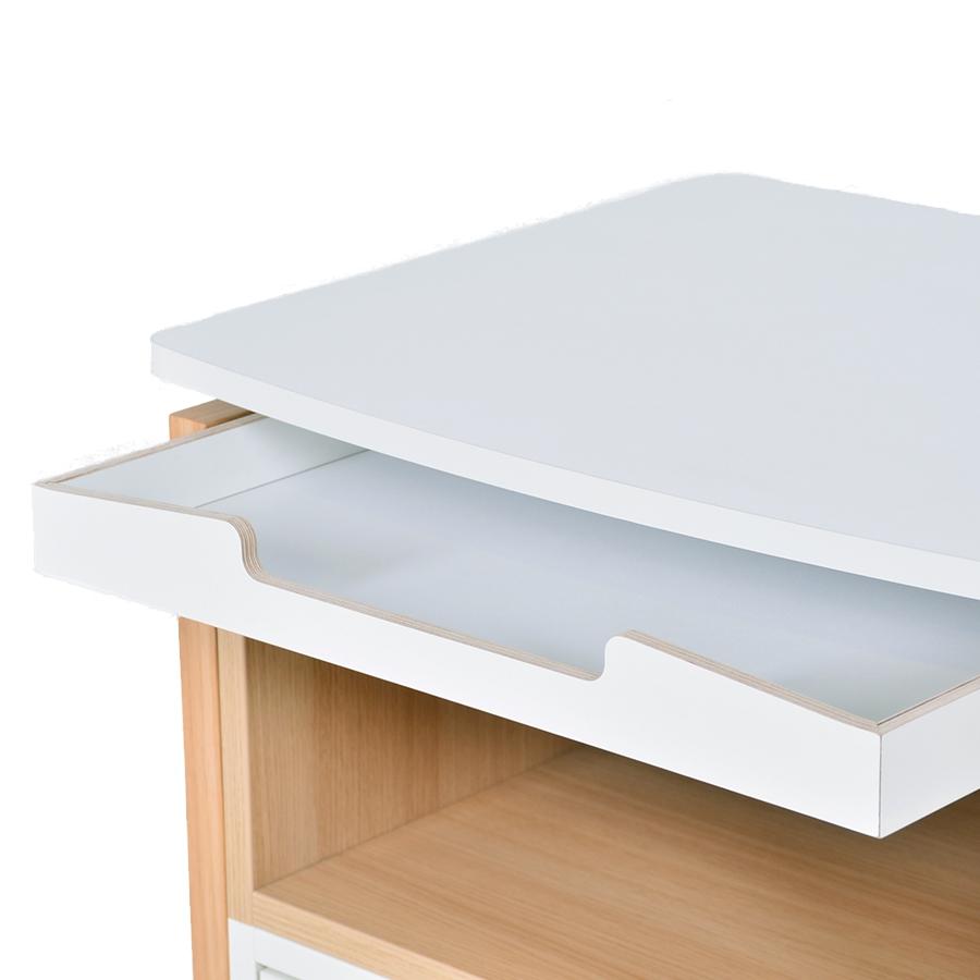 Meuble en bois avec plateau amovible haut de gamme pour bureaux