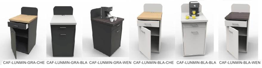 Meuble design machine à café hotel restaurant entreprise coloris