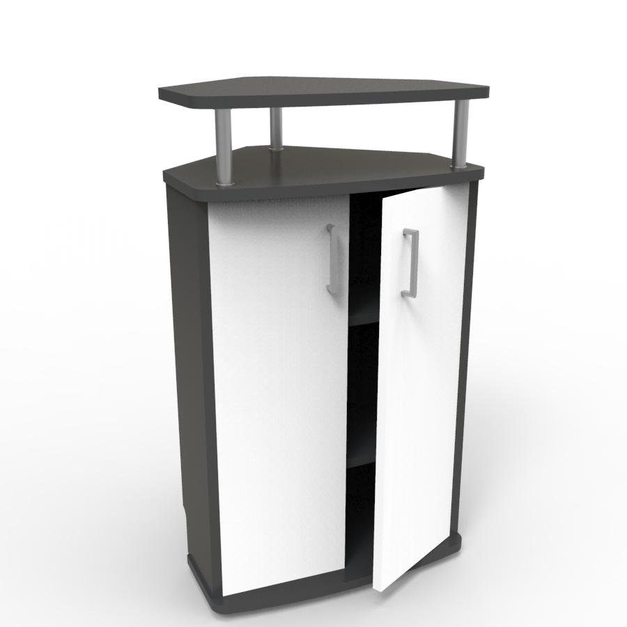 Meuble d'angle pour machine à café blanc convenant aux structures souhaitant faire l'achat d'un meuble pour machine à café avec un bon rapport qualité / prix
