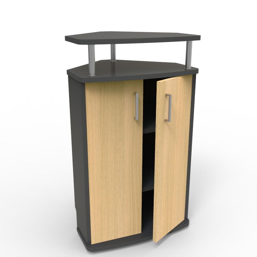 Meuble d'angle pour machine à café chêne convenant aux structures souhaitant faire l'achat d'un meuble pour machine à café avec un bon rapport qualité / prix