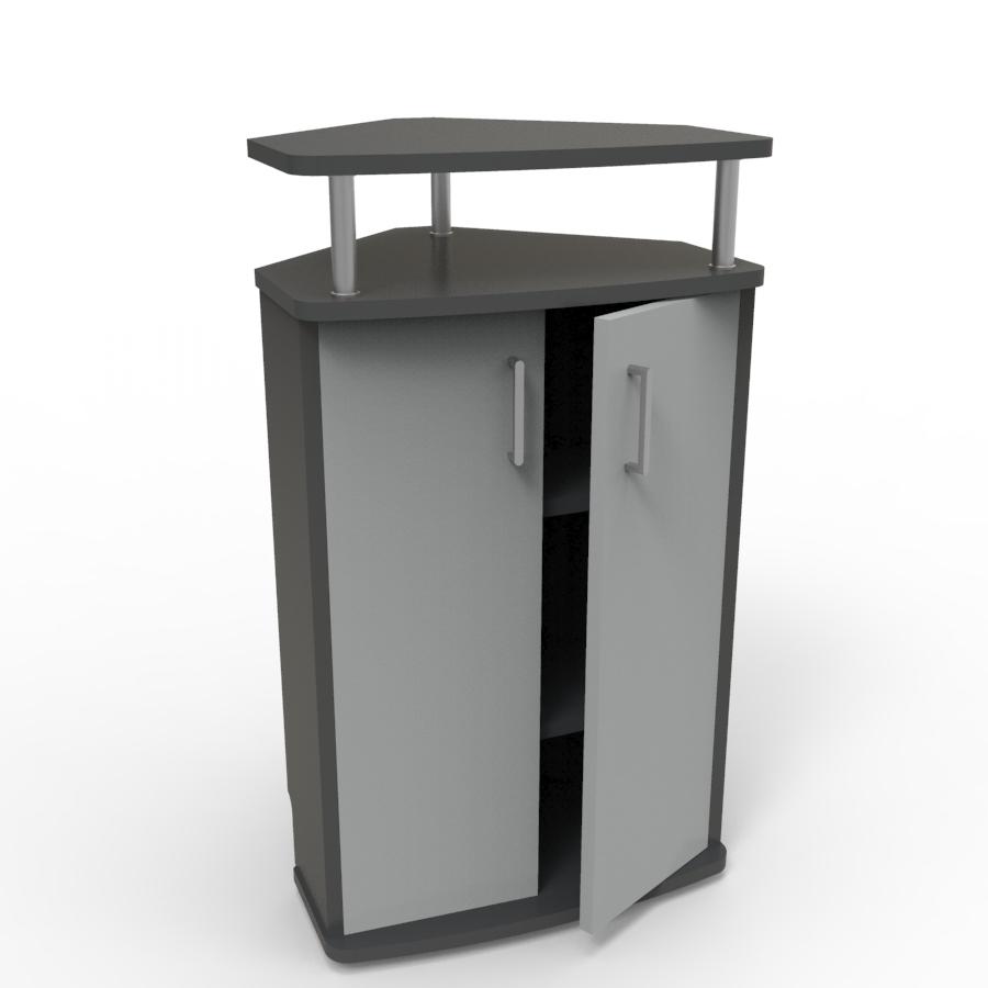Meuble d'angle pour machine à café gris convenant aux structures souhaitant faire l'achat d'un meuble pour machine à café avec un bon rapport qualité / prix
