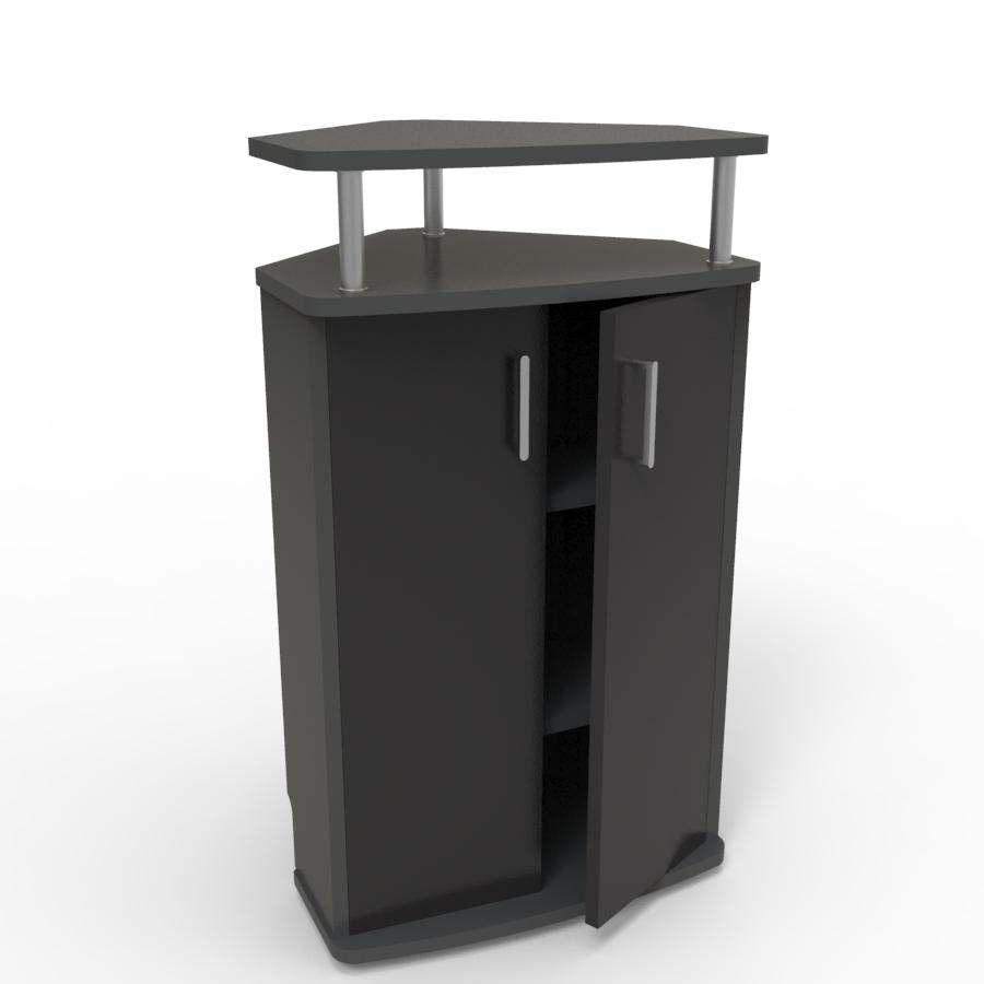 Meuble d'angle pour machine à café noir convenant aux structures souhaitant faire l'achat d'un meuble pour machine à café avec un bon rapport qualité / prix