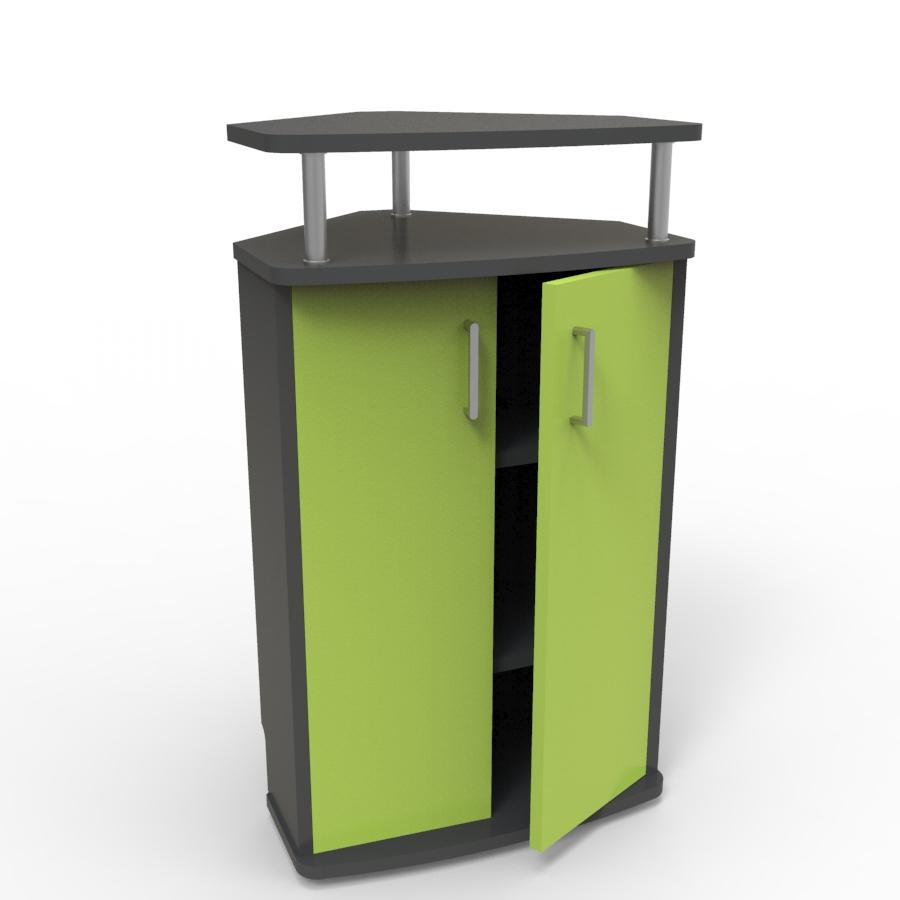 Meuble d'angle pour machine à café vert convenant aux structures souhaitant faire l'achat d'un meuble pour machine à café avec un bon rapport qualité / prix