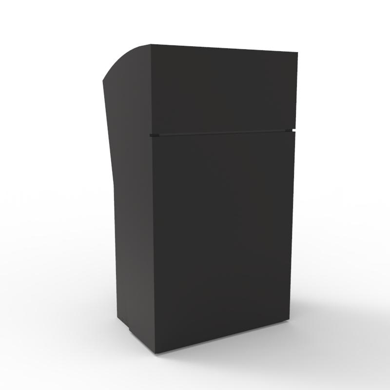 Pupitre pour conférence noir avec rangements et tablette inclinée de qualité professionnelle fabriqué en France