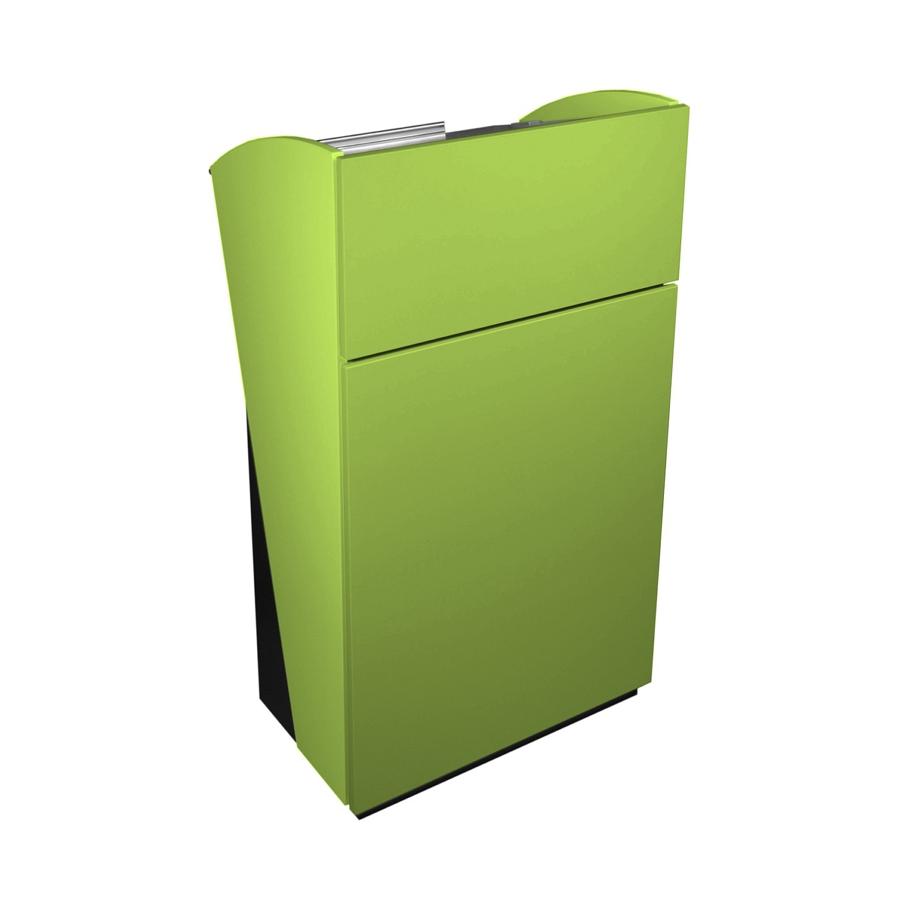 Pupitre pour conférence vert avec rangements et tablette inclinée de qualité professionnelle fabriqué en France