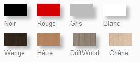 Coloris disponibles du pupitre design en bois avec une fermeture à clé