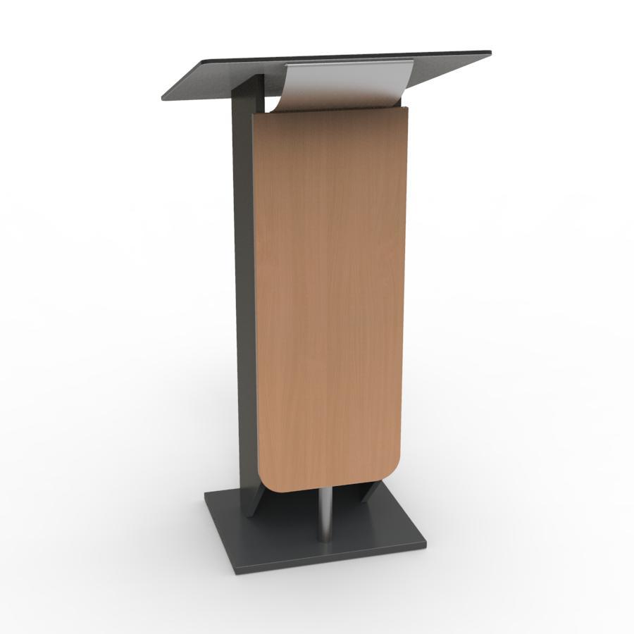 Pupitre lutrin en bois avec écritoire incliné pour conférence d'association, collectivites