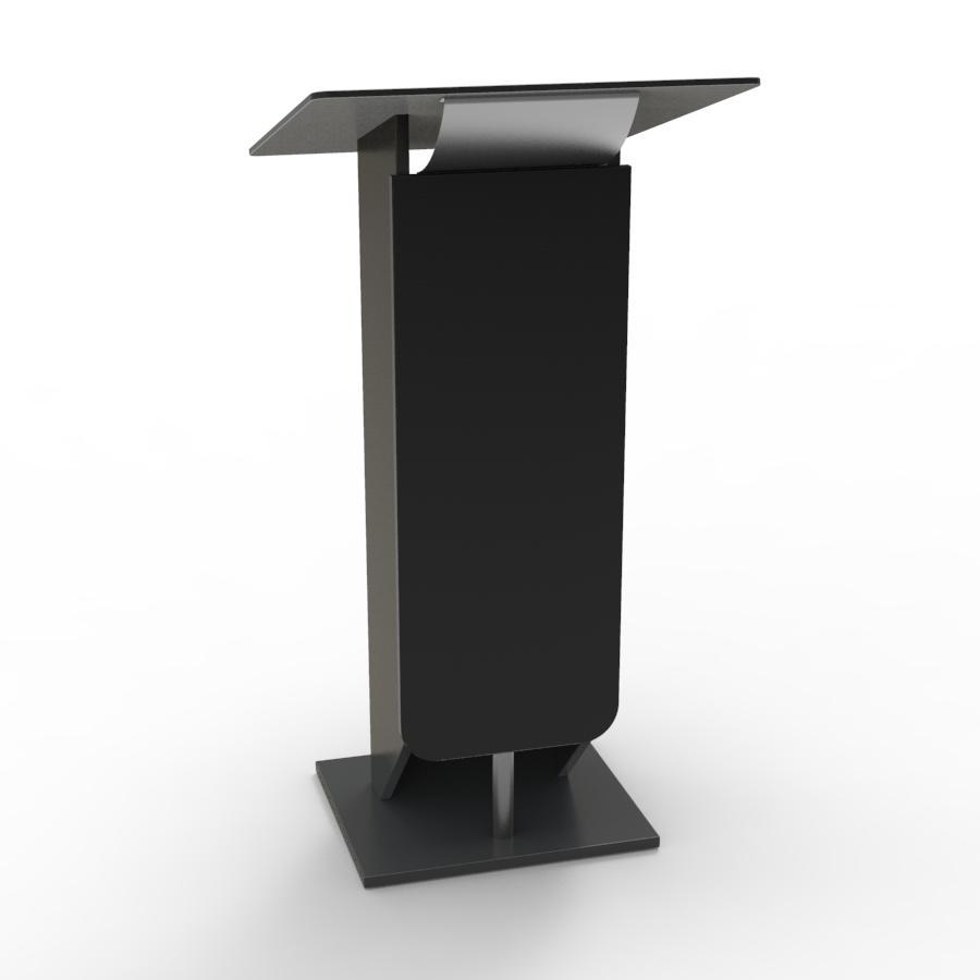 Pupitre de conference bois noir destiné à des meetings et discours organisés par des collectivités et universités