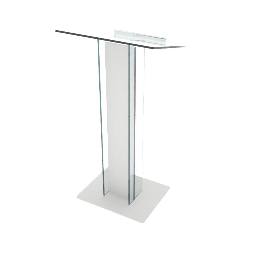 Pupitre de conférence plexiglas et bois blanc convenant pour conférences et discours d'entreprise