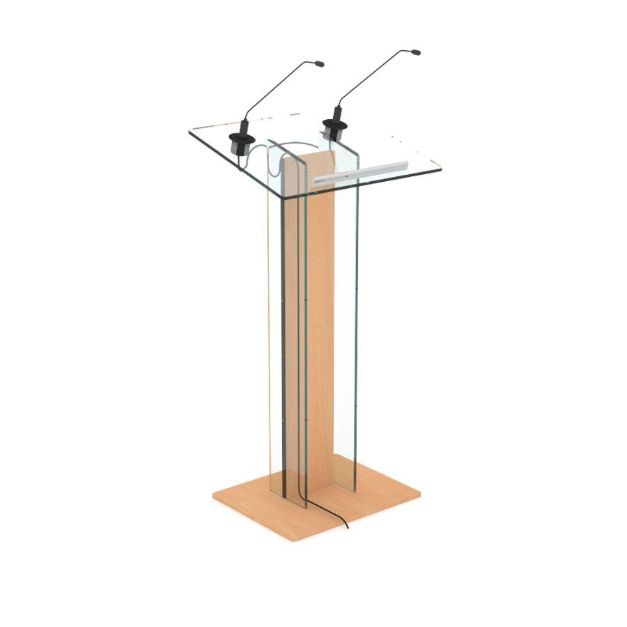 Pupitre de conférence plexiglas et bois hêtre pour entreprise et collectivité / association