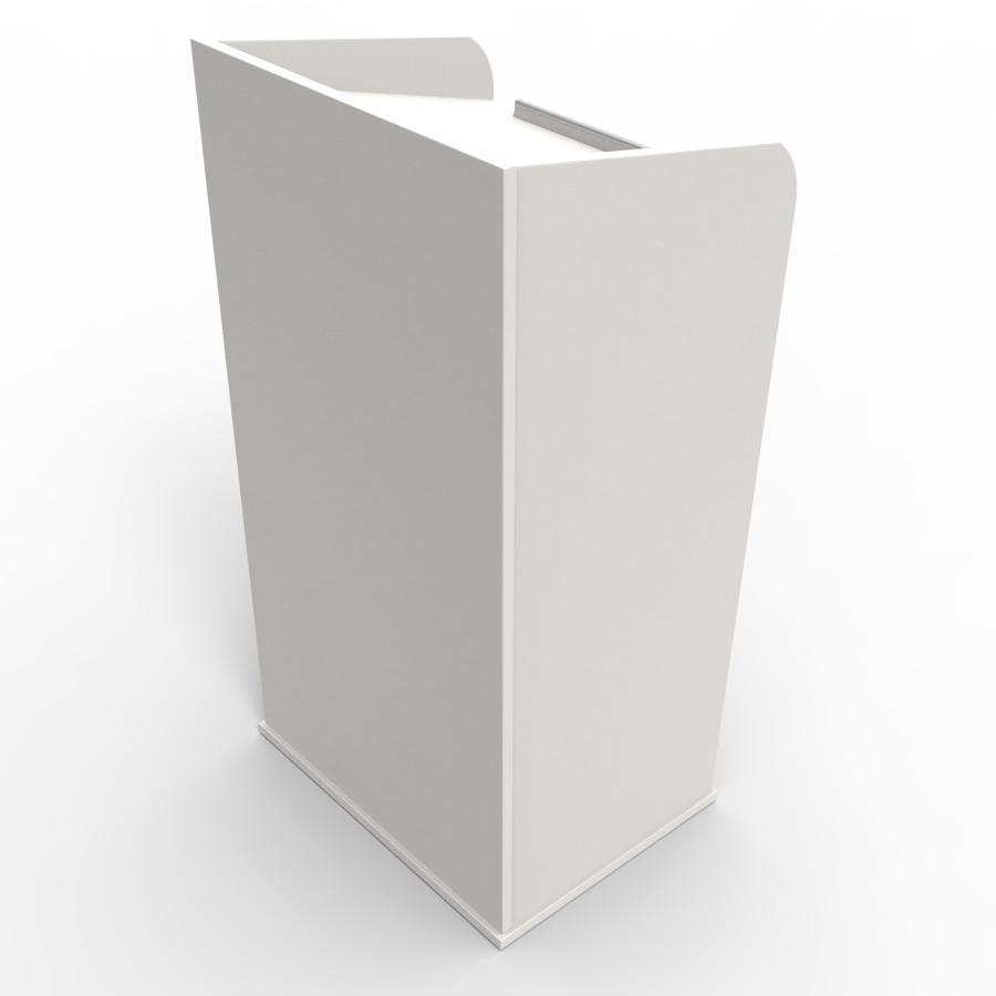 Pupitre de conférence en bois blanc pour entreprises, associations, écoles, universités