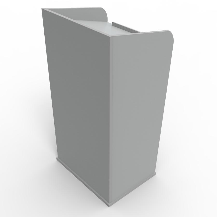 Pupitre de conférence en bois gris pour entreprises, associations, écoles, universités
