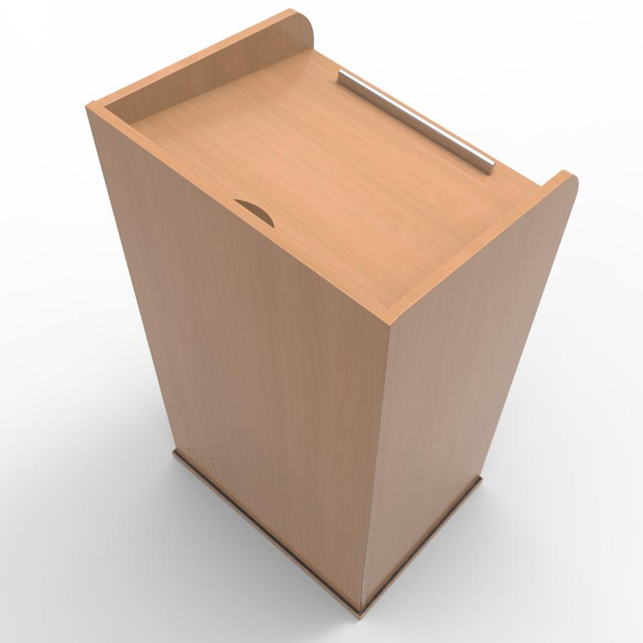 Pupitre en bois hêtre livré monté convenant pour des entreprises et collectivités souhaitant faire l'achat d'un pupitre de qualité pour conférences et discours